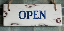 OPEN/CLOSED - vintage/shabby chic/distressed sign