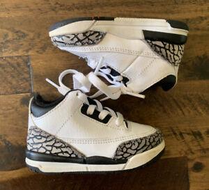 Nike Air Jordan Retro 3 III Infrared Cement 832033-123 Toddler Sz 5c