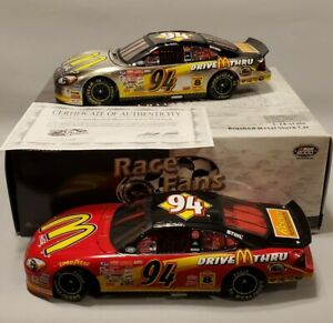 Bill Elliott #94 2000 Ford McDonald's Drive Thru 2-CAR SET 1:24 ~ lot t881