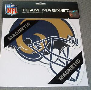 NFL Los Angeles Rams 8 inch Auto Magnet Helmet Shaped by Fremont Die