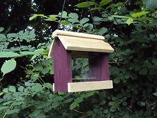 Bird Feeder Hanging seed hopper aviary/ Table wooden