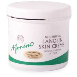 Merino Lanolin Hypoallergenic Skin Cream - Dry Skin - 3 Sizes 100g, 200g or 500g