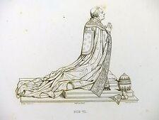 Gravure de Reveil d'ap. Canova - Le Pape Pie VI