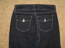 NYDJ Not Your Daughter's Jeans Size 8 Dark Blue Stretch Denim Womens Capris