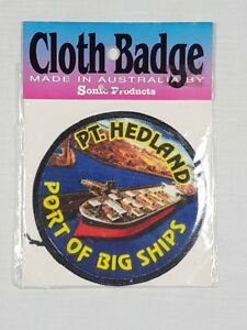 Port Headland Port of Big Ships, Collectable Souvenir Sew on Patch / Badge (NOS)