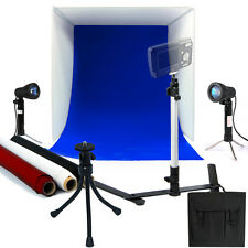 """Photo Studio 16"""" Photography Lighting Tent Kit Backdrop Cube In A Box Mini Stand"""