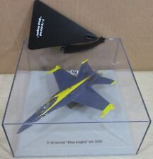"""Armour F18 Hornet Aircraft """"Blue Angels"""" Airplane Die-Cast 1:100 NEW Box Torn"""