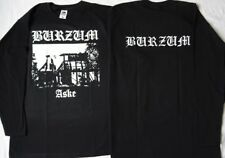 1BURZUM ASKE LONGSLEEVE Church Burning Varg Black Metal Front & Back Print Ltd
