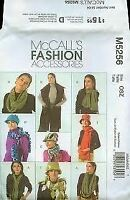 McCalls Sewing Pattern 5256 Fashion Accessories Hat Scarves Uncut