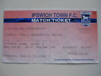 IPSWICH TOWN v MANCHESTER UNITED  01/05/1994 USED TICKET STUB