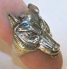 DELUXE WOLF HEAD SILVER BIKER RING BR225 mens RINGS jewelry NEW WOLVES ladies