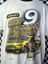 Marcos Ambrose #9 Stanley Straightaway White  NASCAR T-Shirt