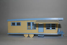 Plasticville/Bachman Mobile Home Trailer, O Scale, Blue Roof, Unassembled