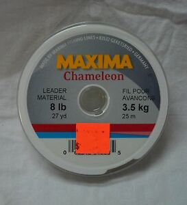 Maxima chameleon leader material 8 lbs (27 yards )  (store#bte16)