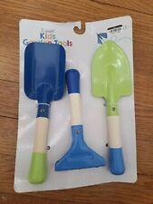 Kids Garden Tools - 3 Count (Shovel, Rake & Spade) - Metal w/Wooden Handles