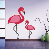 Pink Flamingo Wall Sticker Living Room Decal Removable Vinyl Wallpaper