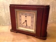 Antique Art Deco Temco Electric Mantle Clock Untested For Restoration