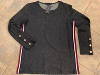 Womens Tommy Hilfiger Long Sleeve Blue Top Size M Medium J92H2737