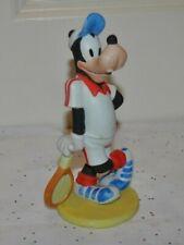 "Vtg Disney Productions Goofy Tennis Collectible Figurine Cake Topper 6"" Korea"