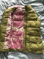 JOULES Philomena Belted GREEN GILET Pink Floral Lining Immaculate SZ 12