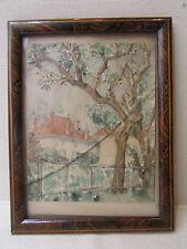 ancien cadre porte photo faux bois epoque 1925 art deco a poser