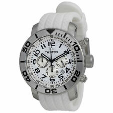 TW Acero TW94 grandeza Diver Cronógrafo Esfera Blanca Reloj para hombres