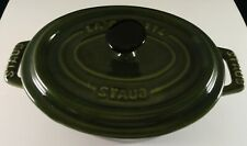 La Cotte STAUB Pottery Cooking Dish with Lid - Green
