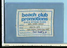 Jeff Beck, Bogert & Carmine Appice 1973 Backstage Pass; Show Used Vintage