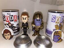 Funko Soda Marvel Pop Black Widow & Thanos Common.