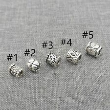 10pcs of 925 Sterling Silver Small Beads Tube Spacer for Bracelet