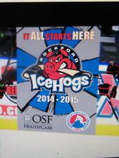 Chicago Blackhawks Rockford Icehogs Hockey Game Giveaway Fleece Blanket 2014-15