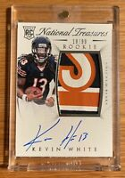 2015 National Treasures Kevin White Auto 3 Color Logo Patch 18/99 Bears Rookie