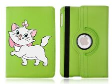 Cute Marie Rotating Case Green Cover for iPad Mini 1 2 3