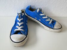 Converse All Star Chucks Sneaker Turnschuhe Slim Low Stoff Blau Gr. 2,5 / 35