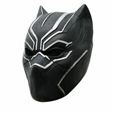 Black Panther Helmet Cosplay Full Head Latex Mask For Halloween Party Toys Gifts
