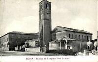 Roma Rom Italia alte Postkarte ~1910/20 Basilica di S. Agnese fuori le mura Turm