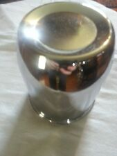 "GENERIC PUSH THROUGH SLIDE CHROME CENTER CAP 4""TALL 4  1/2""  IN DIAME"