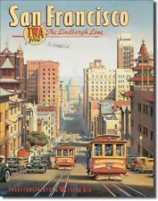 San Francisco USA California Reisen TWA Airlines Metall Deko Schild Kalifornien