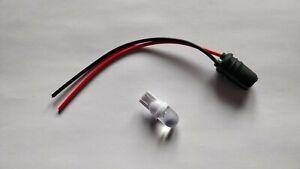 Sidelight / Pilot / Parking Light Bulb Holder  12 volt White LED - 12mm Slim