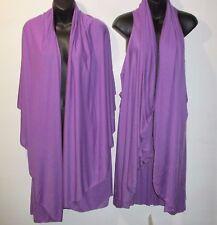 Draped Vest Fits L XL 1X 2X 3X 4X Plus Bolero Poncho Purple Wear Many Ways! NWT