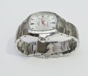 RARE Pulsar by SEIKO GMT PERPETUAL STAINLESS STEEL WATCH WHITE 8F56-X001 - Read