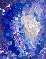 "Original Mixed Media Acrylic Art On 16x20"" Canvas By ElizabethH: Blue Adventure"