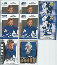 Jonas Gustavsson  09/10  8-Rookie RC Lot  w/ Victory Gold SP's
