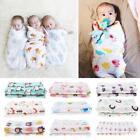 Newborn Infant Muslin Swaddle Soft Gauze Sleeping Blanket Wrap Bath Towel
