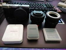 Samsung NX NX3000 with 16-50mm lens, and extras.