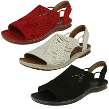 aa864262e3f6 Ladies Clarks Sarla Cadence Black Or Red Nubuck Or White Leather Casual  Sandals