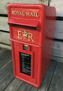 Royal Mail Genuine 1980s ER cast iron Front GPO Post Box Machan Foundry RED.
