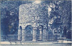 UDB c1907 postcard, Old Stone Mill, Newport, RI