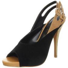 Luxury Rebel Womens Jag Black Slingback Sandals 36.5 Medium Retails $130.00