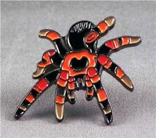 Metal Enamel Pin Badge Brooch Spider Tarantula Red and Black